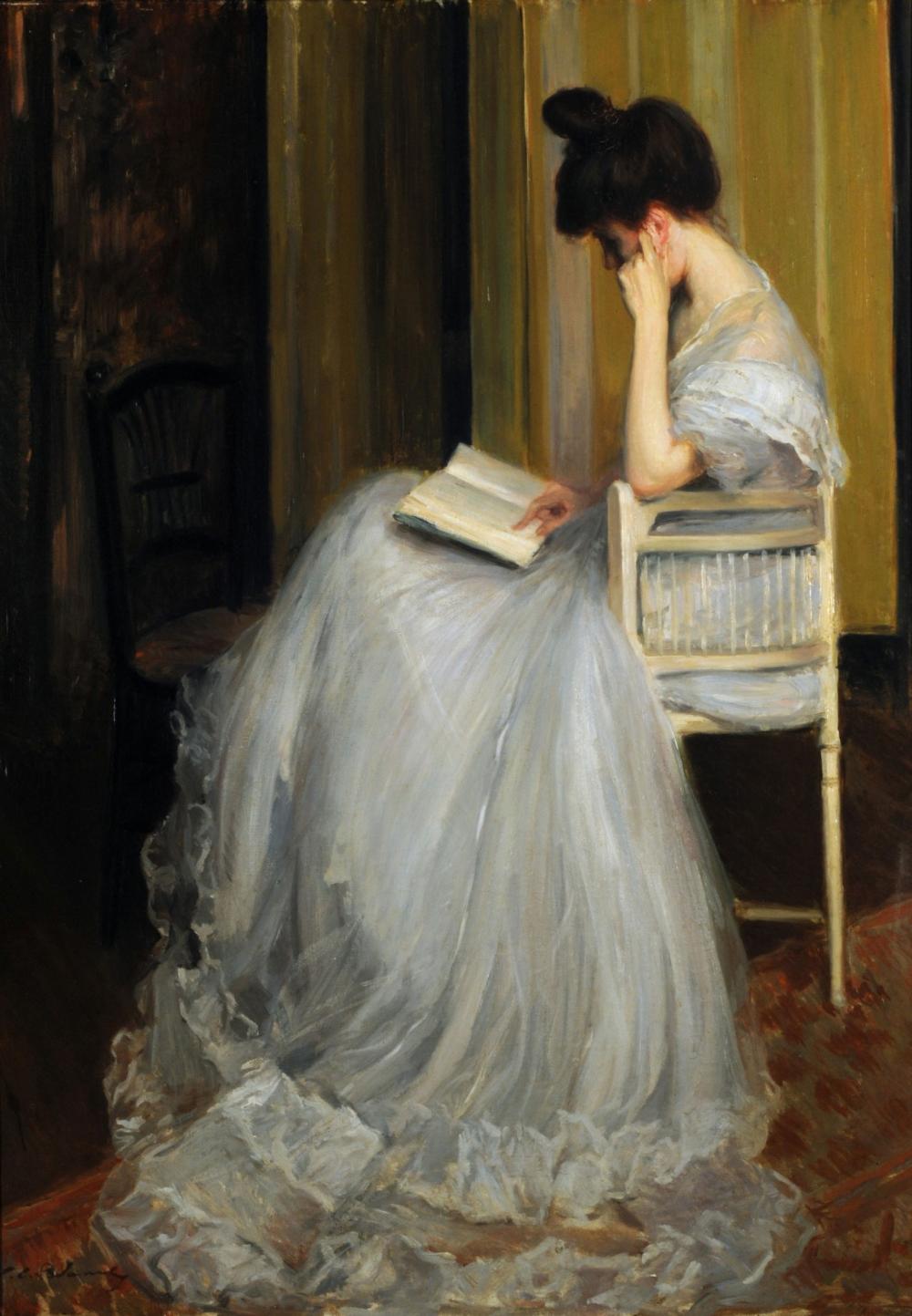 Woman Reading, 1890,Jacques-Émile Blanche